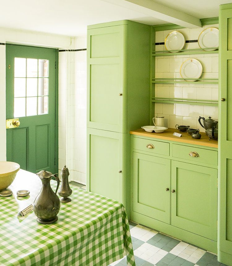 Loving The Green Of This Kitchen At 78 Derngate In Northampton. Though The  Main Rooms
