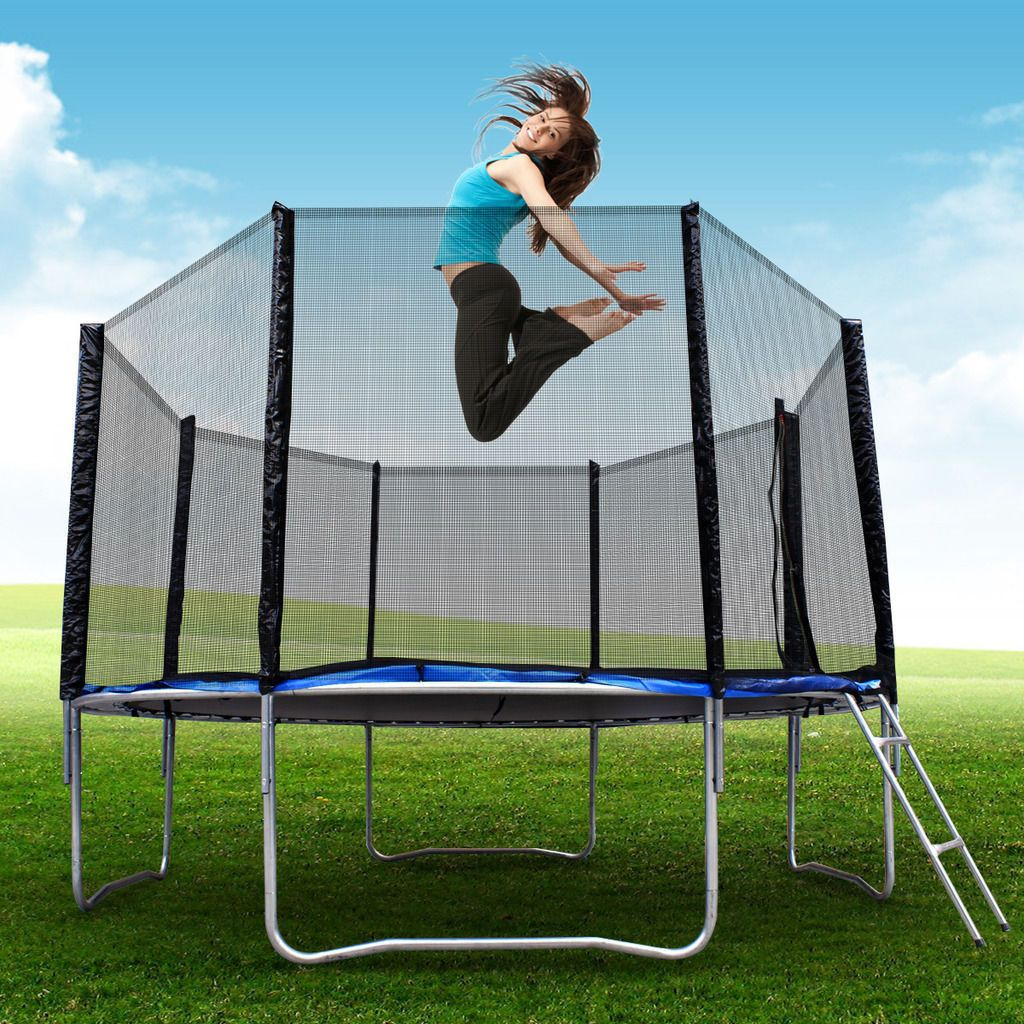 New 10FT Trampoline Combo Bounce Jump Safety Enclosure Net