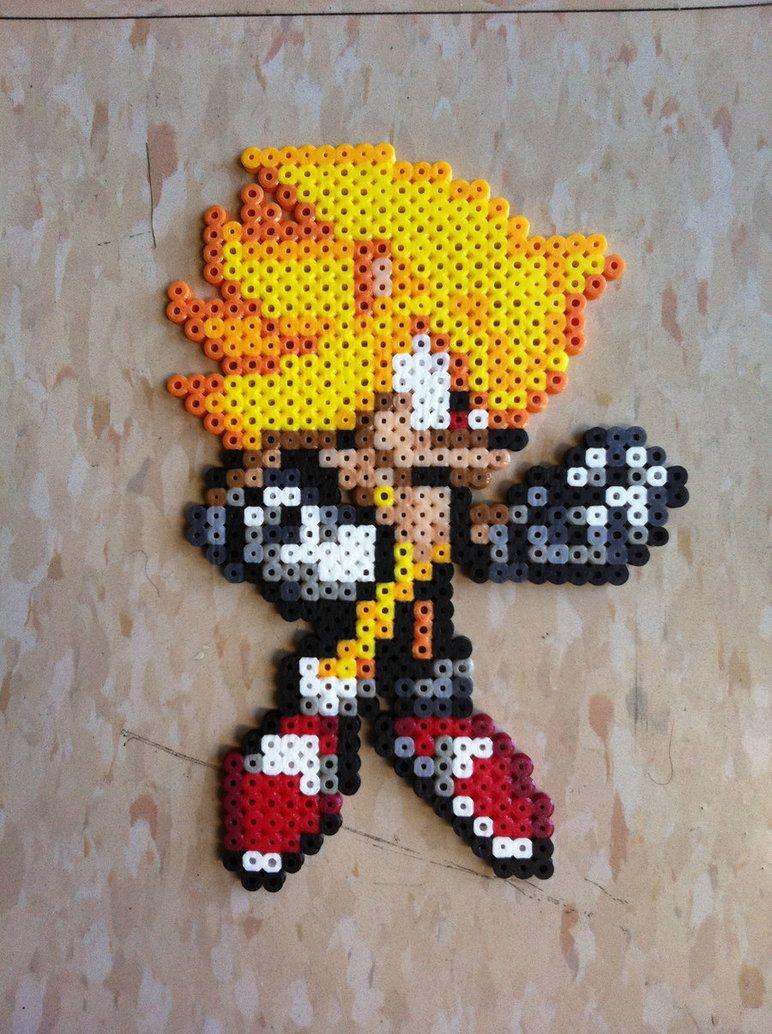 Super Sonic Bead Sprite By Night Tag Perler Bead Craft Ideas