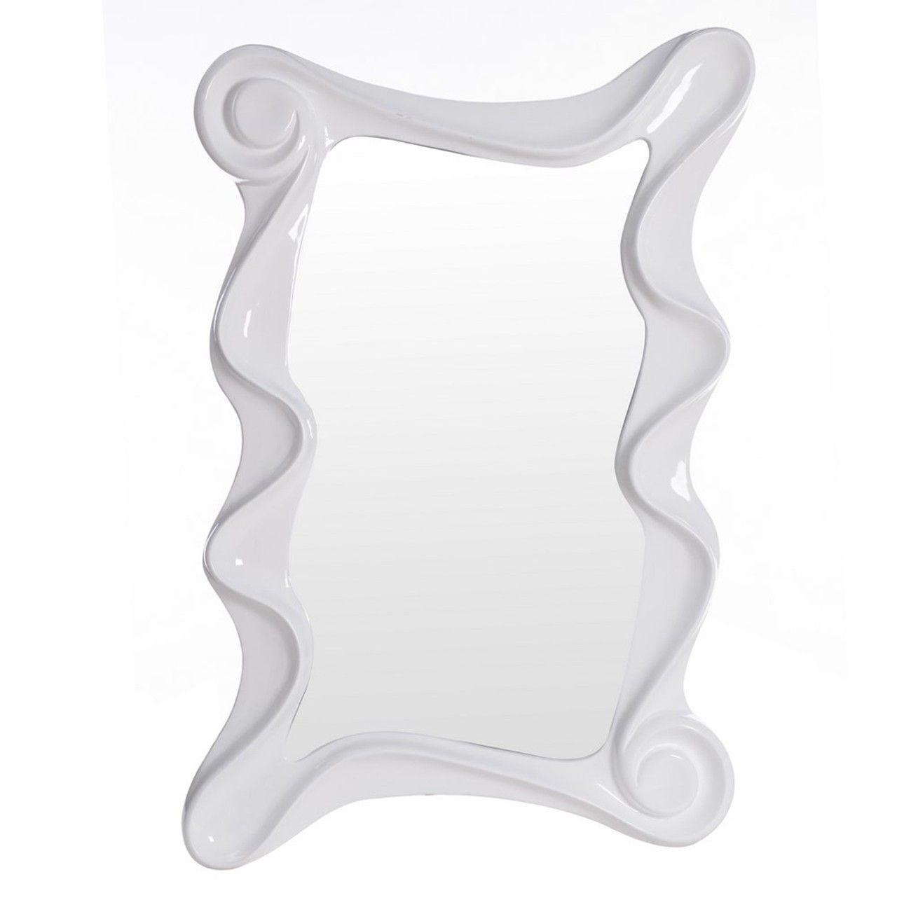 Espejo color #blanco con #marco #olas pequeño.Un #precioso espejo de ...