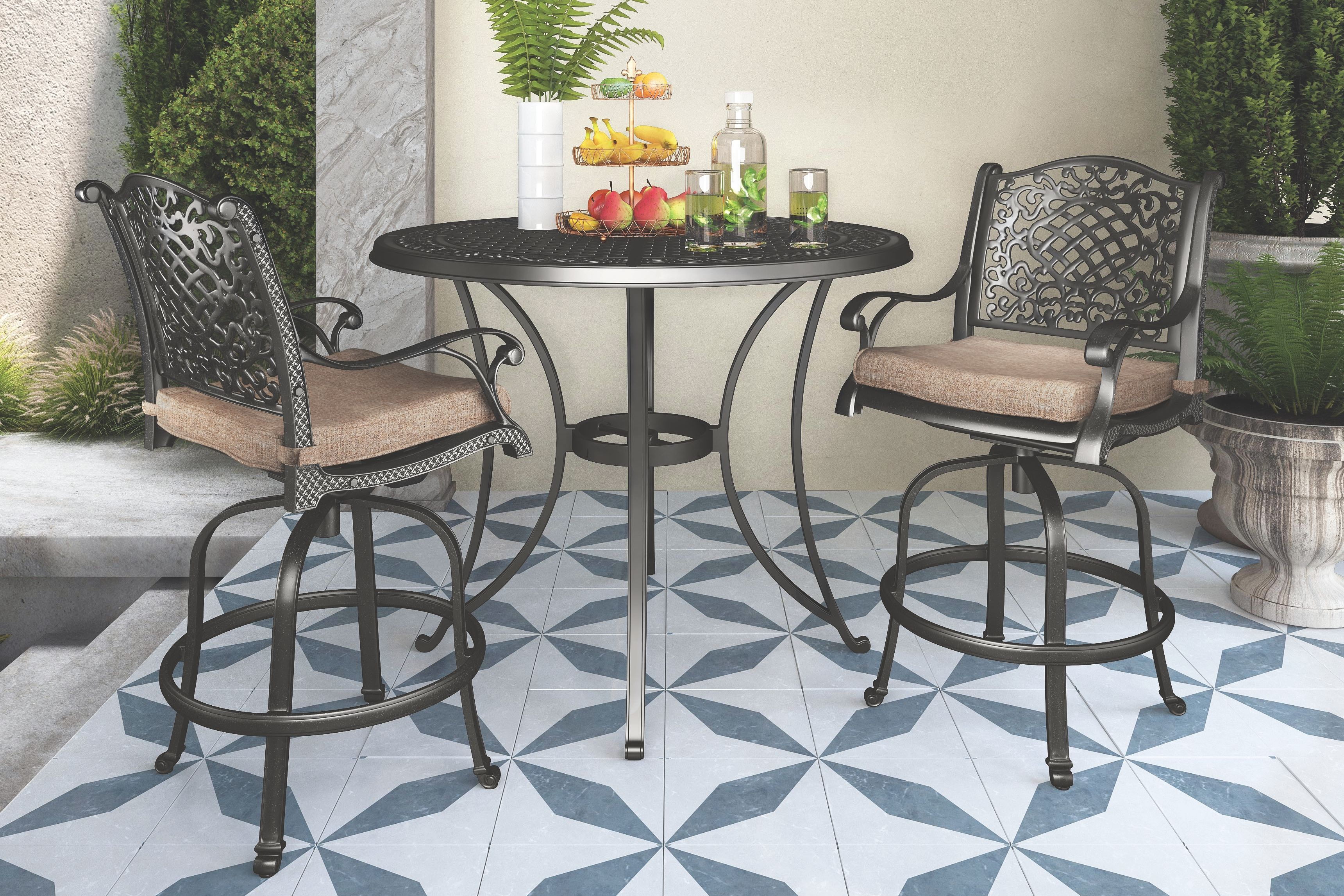 Rose View Bar Stool with Cushion (Set of 2), Brown | Products ...