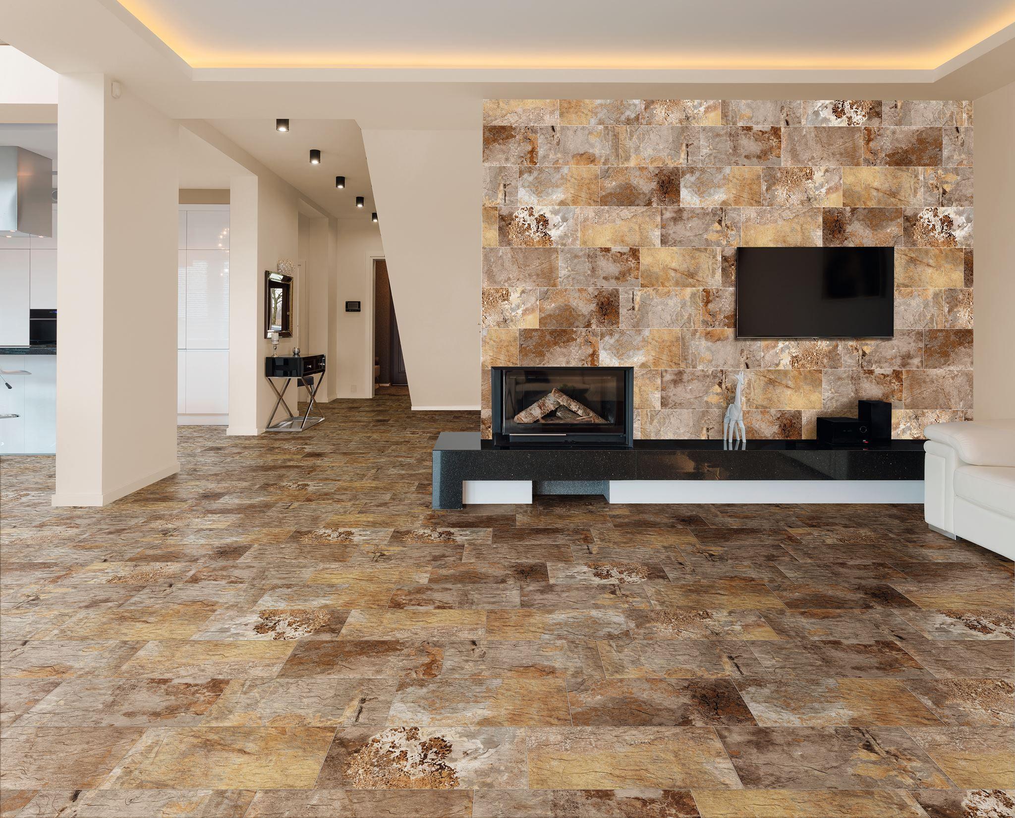 Azulejos y pavimentos cer micos imitando a la piedra es - Pavimentos ceramicos interiores ...