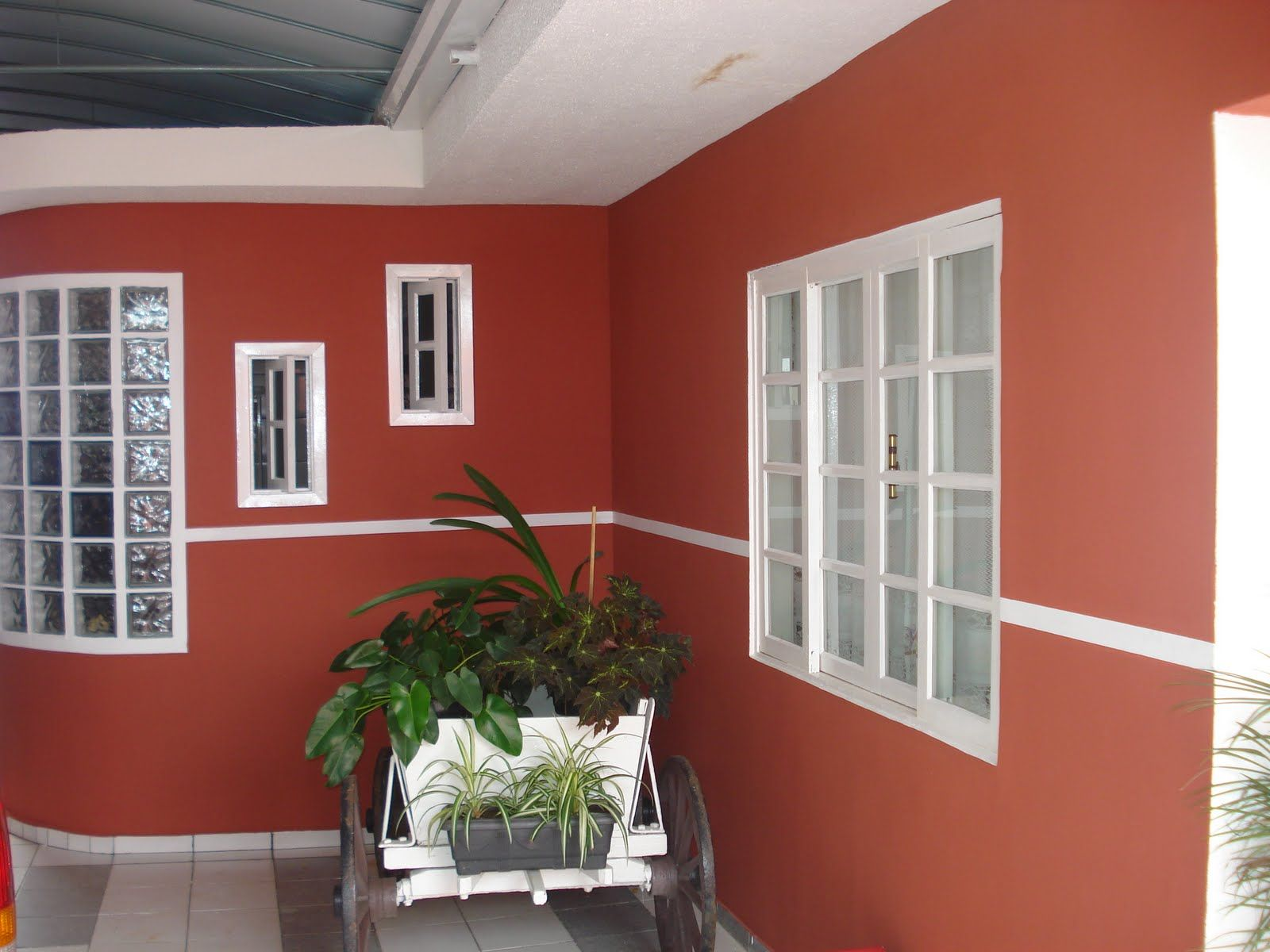 Cor Tomate Seco Suvinil Faixada De Casa Simples Cores De Casas Modernas Casas