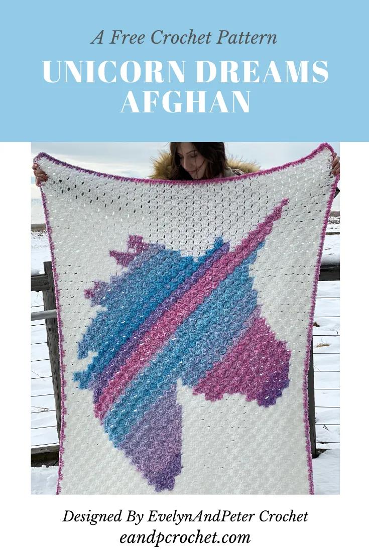 Pattern: Unicorn Dreams Afghan | Crochet unicorn blanket ...