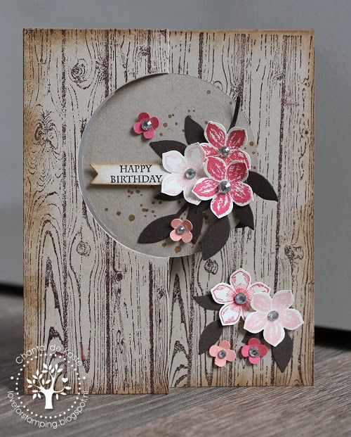 Love for Stamping: SU-per Challenges #30: Spring is in the Air! Hardwood, Petite Petals