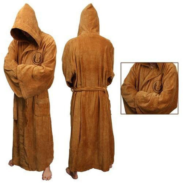 Star Wars Yoda Jedi Master Costume Hooded Toweling Bath Robe Great Gift