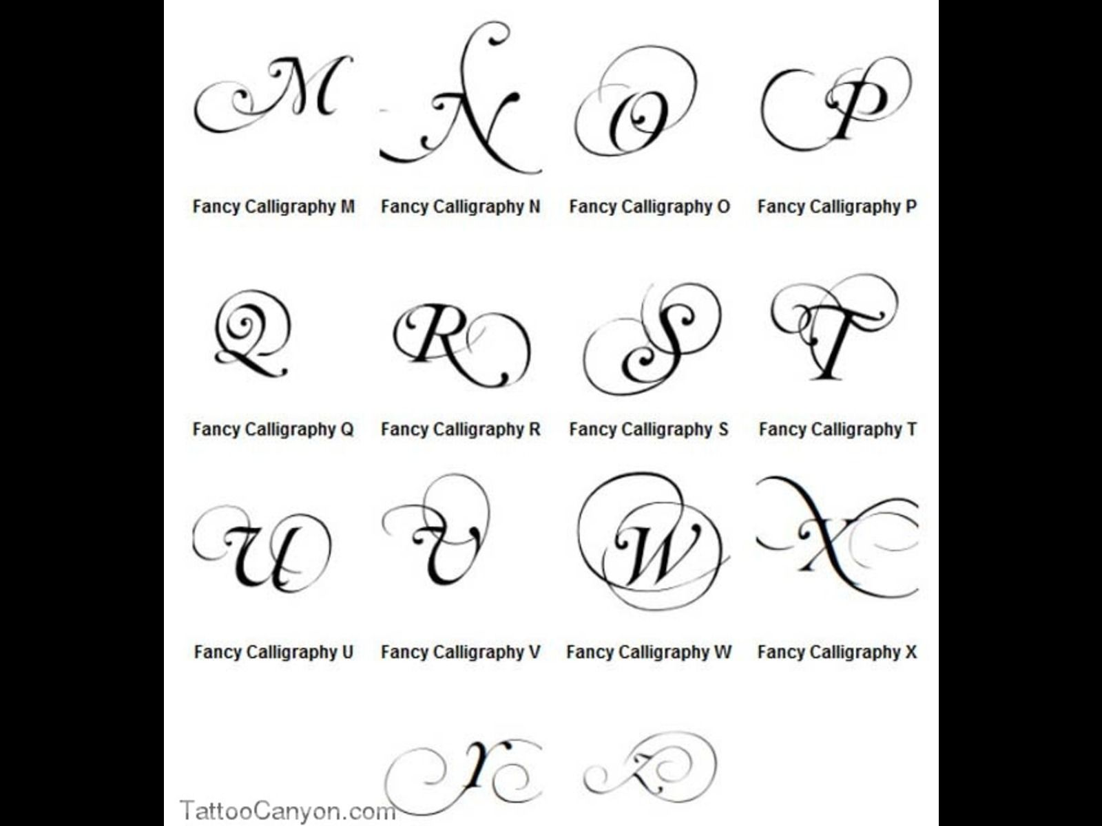 Calligraphy alphabet samples graffiti letters a z fancy Caligraphy i