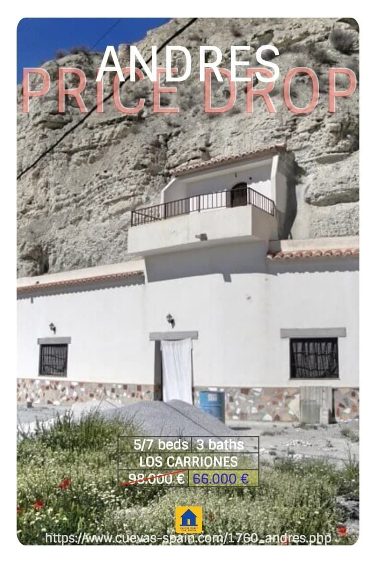 LOS CARRIONES CAVE HOUSE FOR SALE A Fabulous Detached Very Large Cave House,  With Room