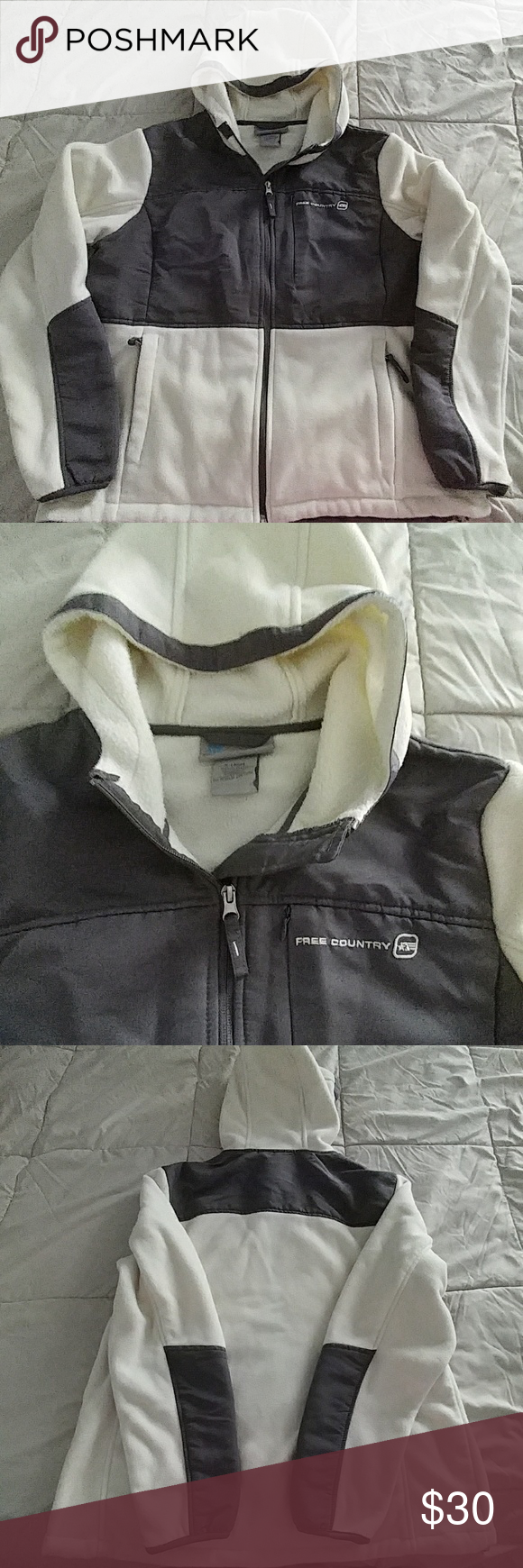 Free country hooded fleece jacket xl comfy conditioning and coats