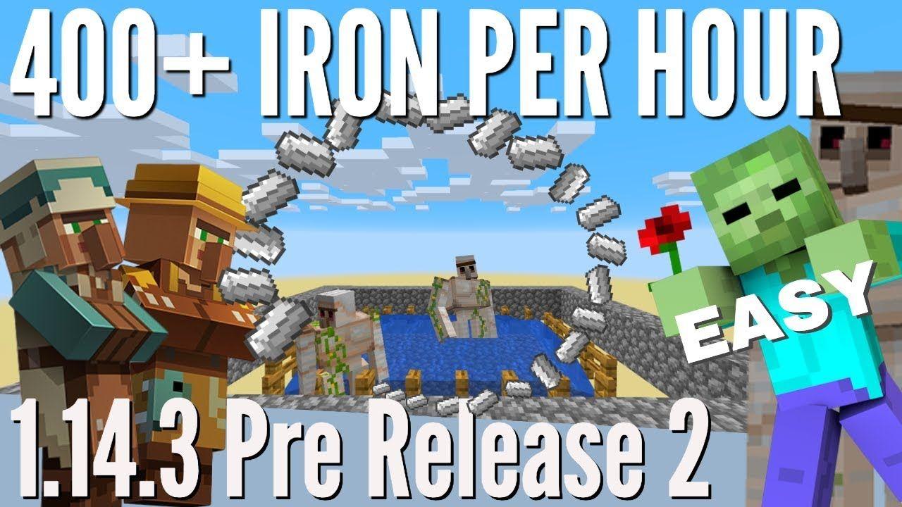 Minecraft Iron Farm Iron Farm Works In 1 14 3 Pre 2 With 400 Iron Per Hour Avomance 2019 Minecraft Iron Minecraft Minecraft Projects