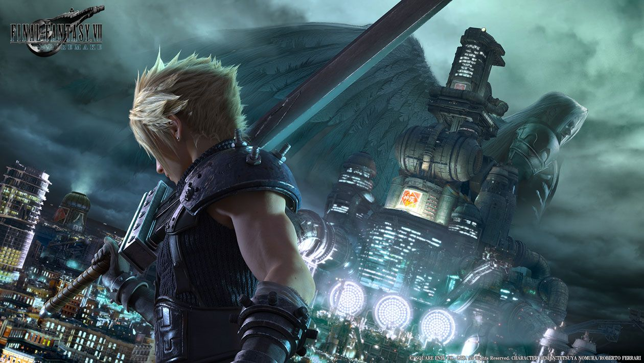 Cloud Sephiroth Key Art From Final Fantasy Vii Remake With