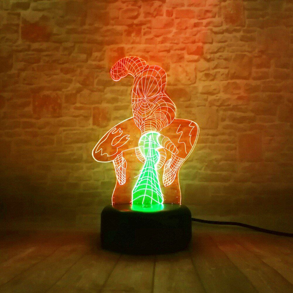 Spiderman Attack 3d Night Light 3d Night Light Night Light Night Light Lamp