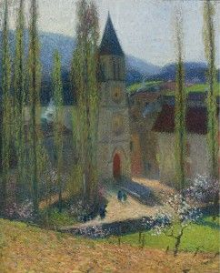 Henri Martin - The Church of Labastide-du-Vert, Late Afternoon, Impressionism Paintings, Artwork 5