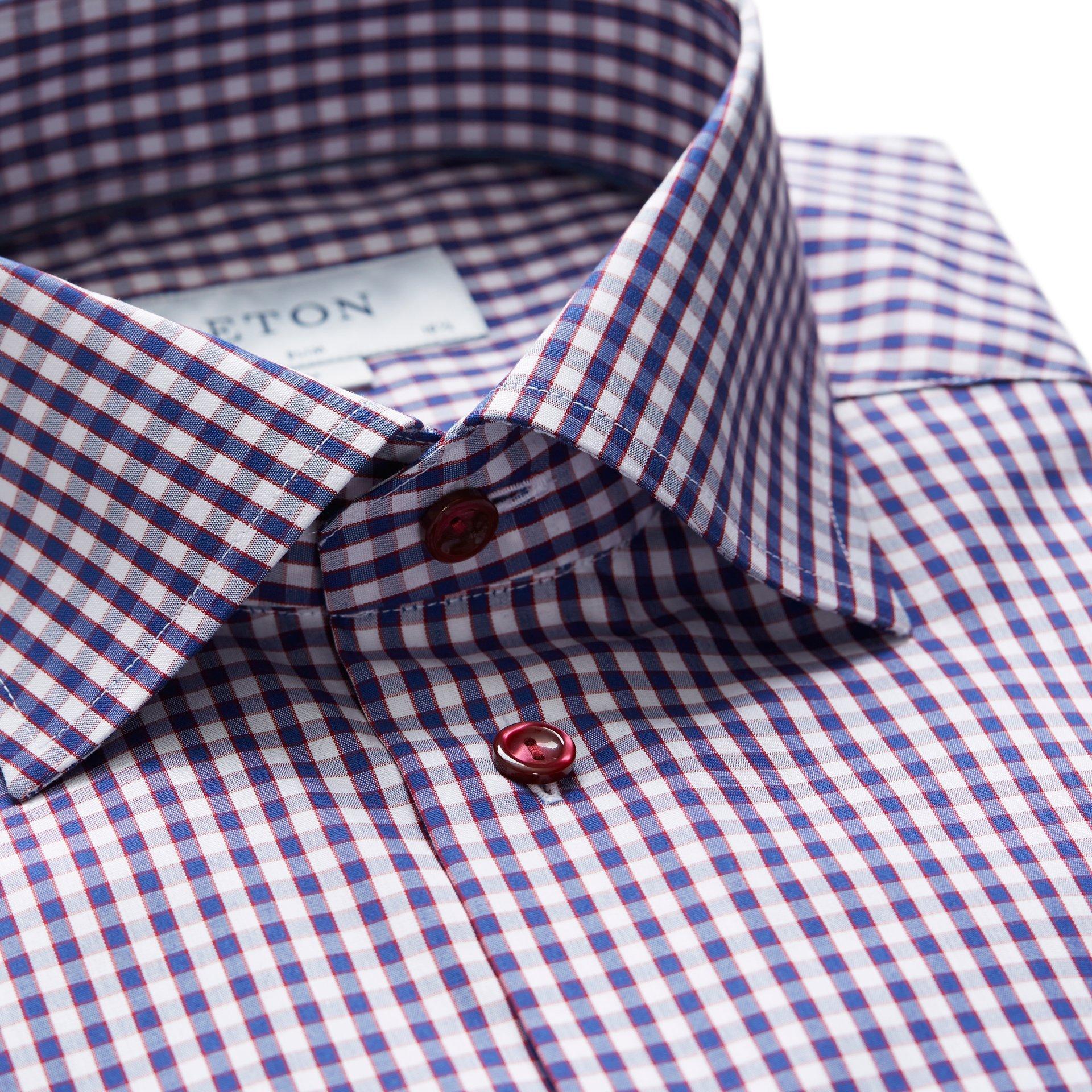 Eton Red Blue Check Twill Shirt Shop Modern Man Twill Shirt Clothing Co Shirt Shop