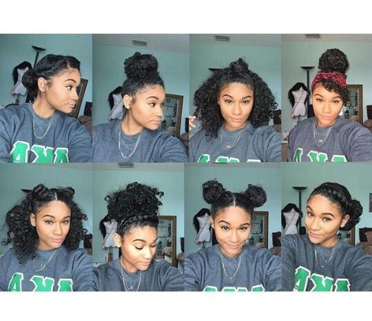 Pin By Kerry Dow On Great Hair Tricks And Tips: 8 Bun Styles For Natural, Curly Hair -(Ig:_kharissa