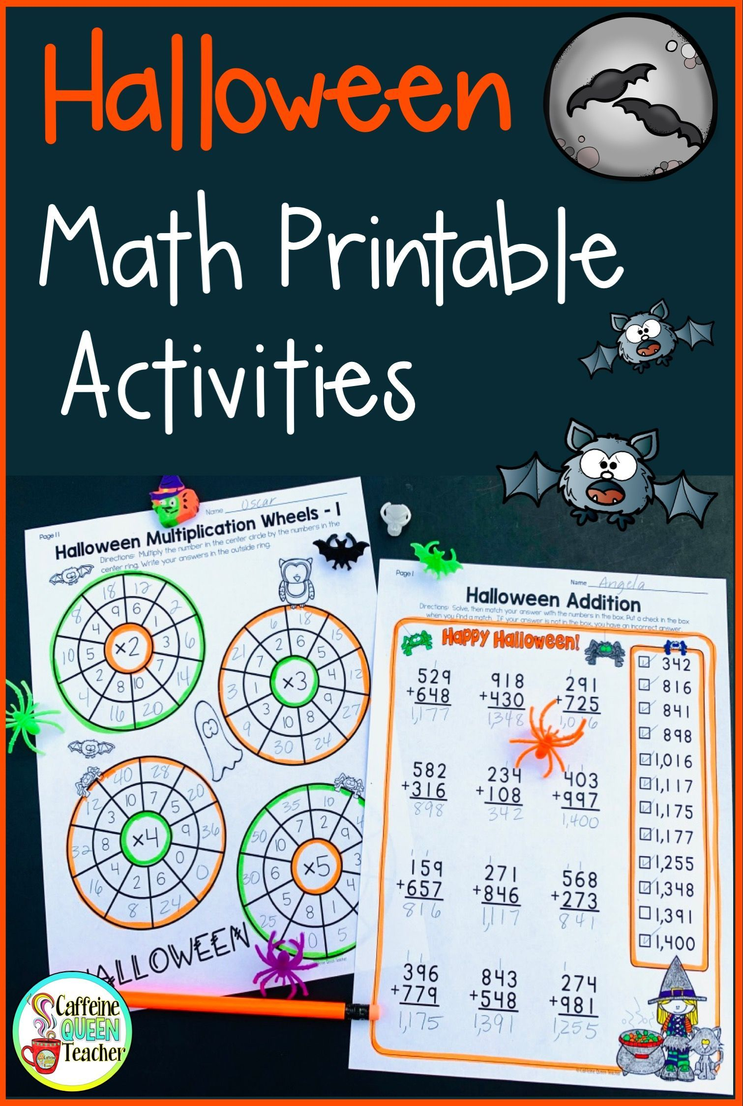 Halloween Math Practice And Review Pack