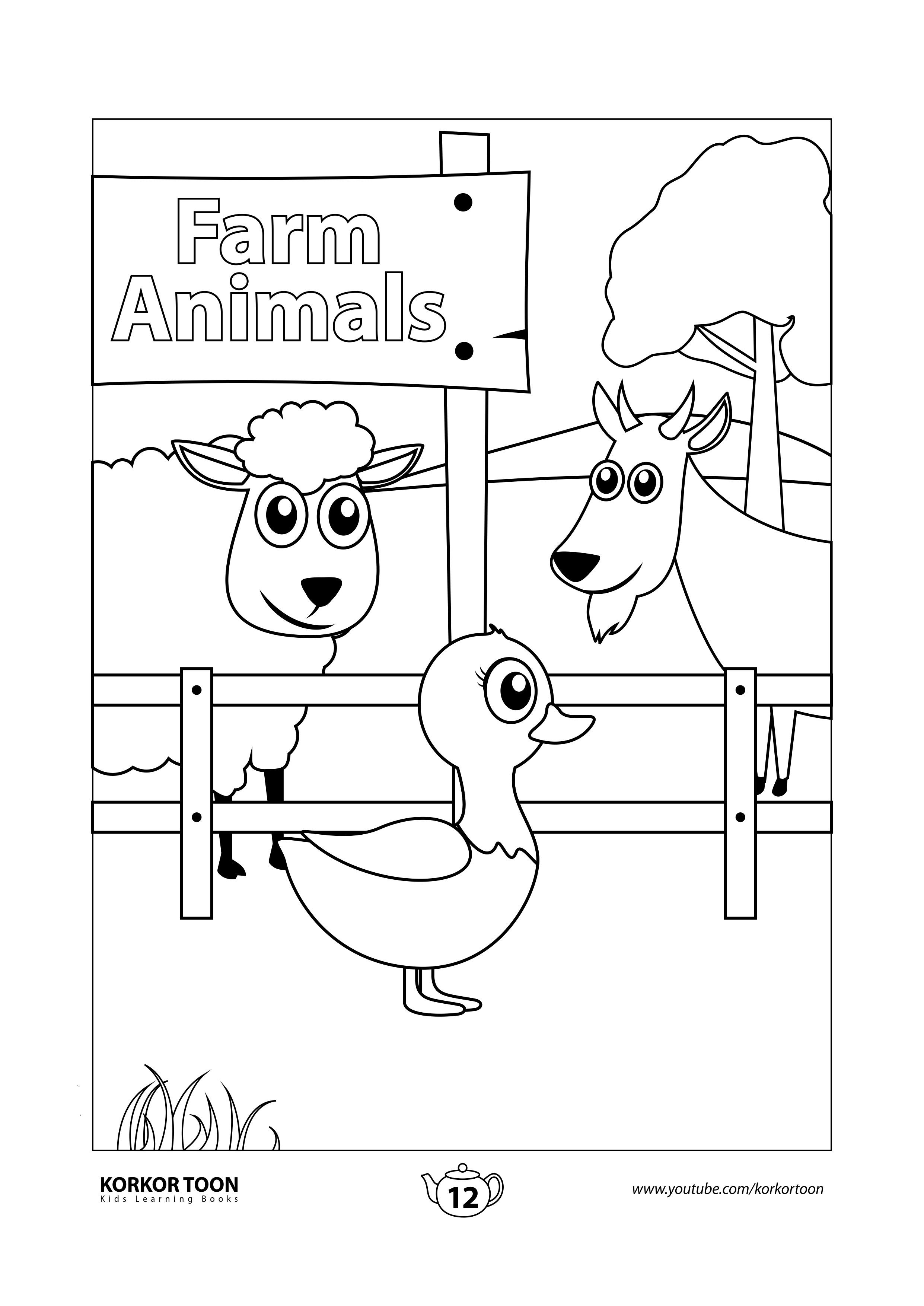 Farm Animals Coloring Page Farm Animals Coloring Book Coloring Books Animal Coloring Books Kids Coloring Books