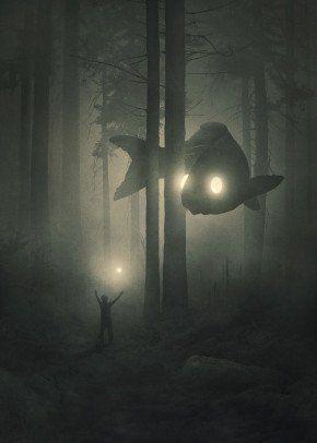 'Deep Forest ' Metal Poster Print - Mini People |