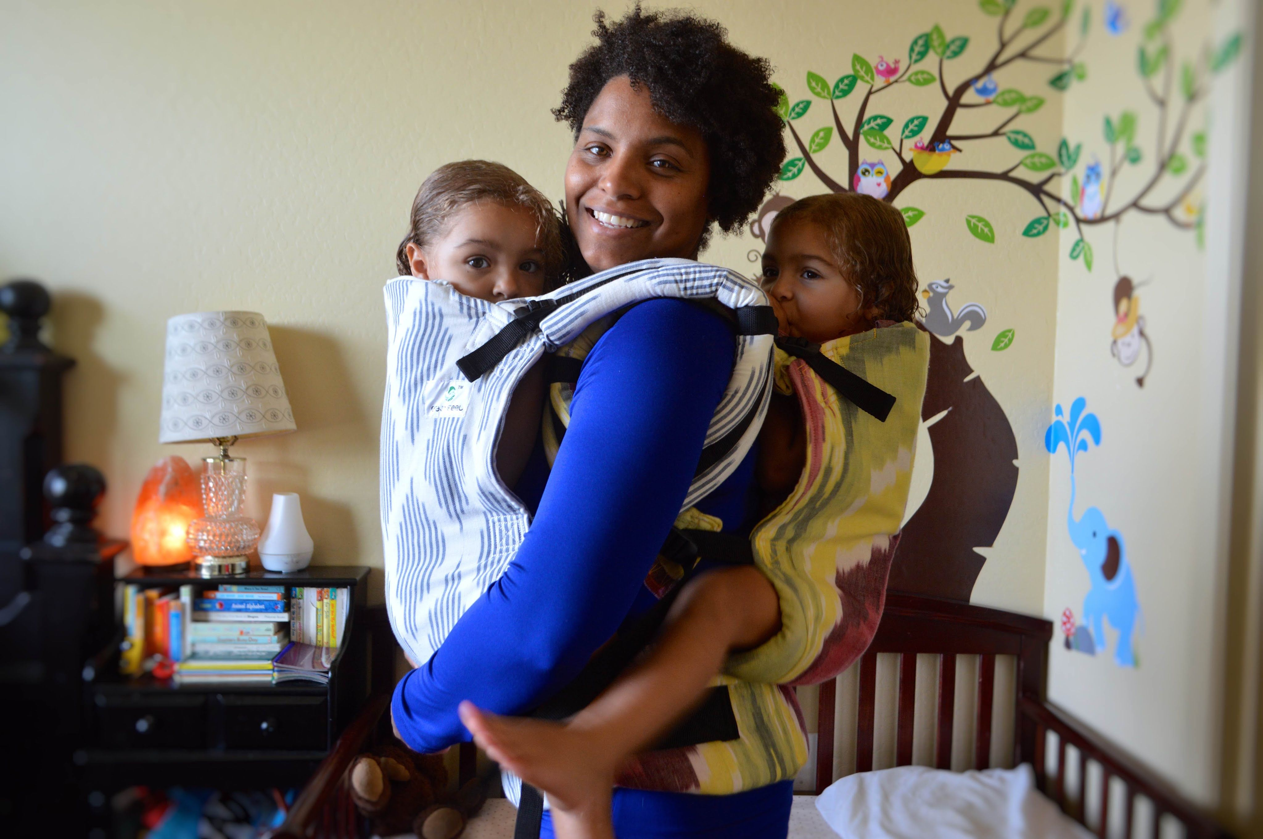 Tandem Babywearing Two Soft Structured Carriers Ssc Tandem
