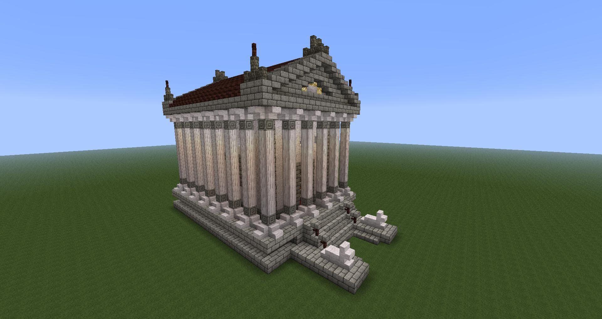 Asmr Soft Spoken Minecraft Tutorial Greek Temple Greek Temple