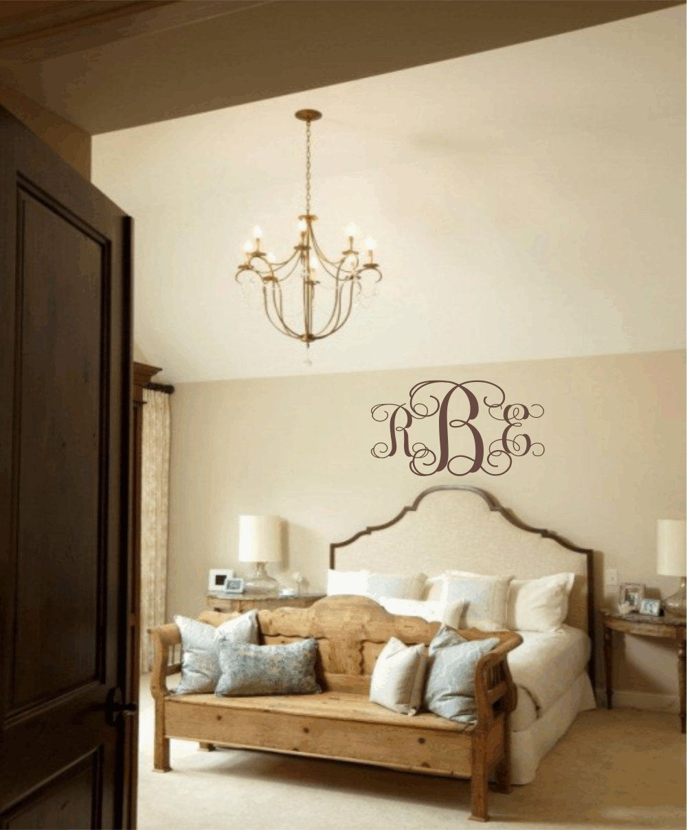 Master Bedroom Nursery Ideas master bedroom wall decal personalized initial monogram vinyl wall