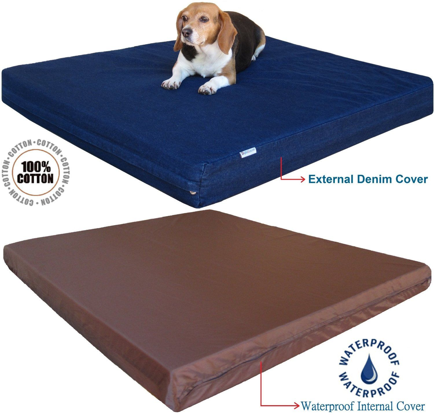 Extra Large Orthopedic Memory Foam Pet Dog