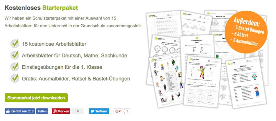 Schulstarterpaket, Grundschule, Arbeitsmaterial, kostenlos, Deutsch ...