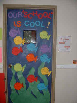 Our School is Cool Bulletin Board Suggestion   School door ...