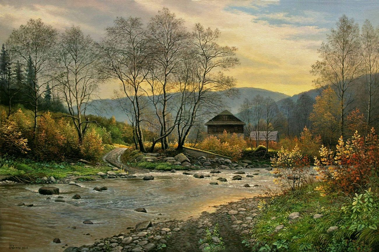 Realism Oil Painting Original Landscape Painting Large Wall Mountain Landscape Painting Landscape Paintings Canvas Painting Landscape