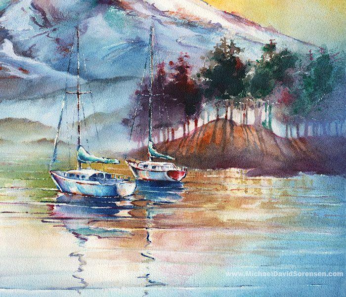 Mount Rainier Painting. Pacific Northwest от MichaelDavidSorensen