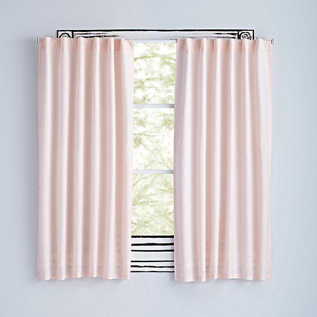 Fresh Linen Light Pink 84 Curtain The Land Of Nod Kids