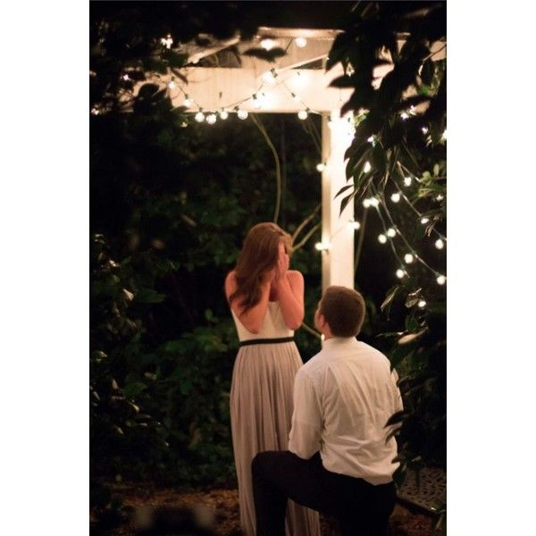 Movies Cuddles And A Surprise Proposal: Beautiful Garden Proposal Found On Polyvore