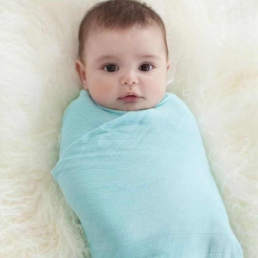 Silky Soft Swaddles Azure 3 Pack Muslin Baby Wraps Best Baby Blanket Recommendations For Babies Sw In 2020 Unique Baby Blankets Bamboo Swaddle Muslin Baby