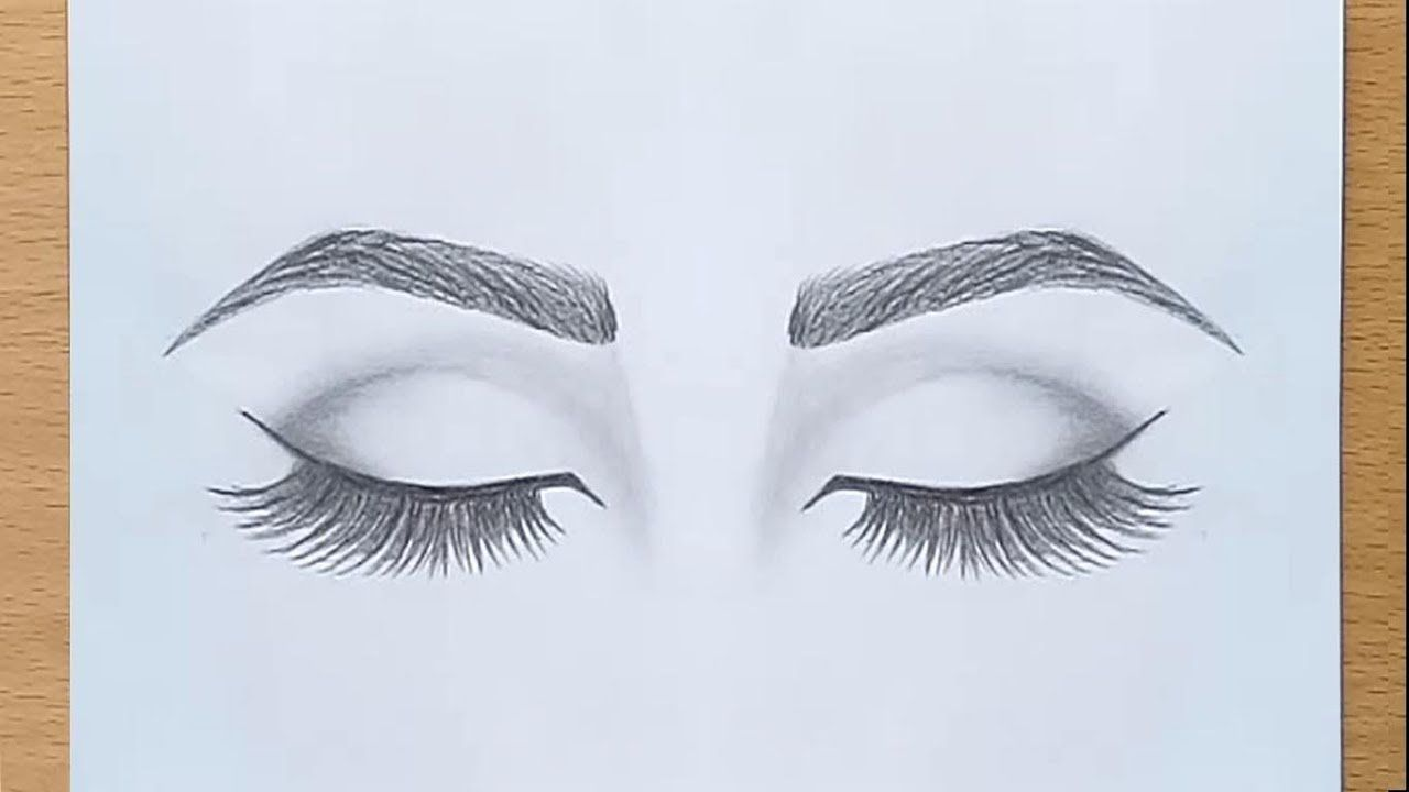 How To Draw Closed Eyes For Beginners Step By Step Pencil