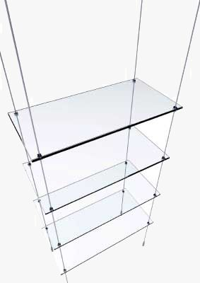 Glass Floating Shelves With Wires Google Search Glass Display