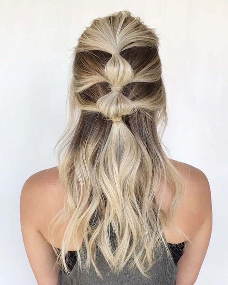 A bubble braid for Friyay hair cred hairandbeautybyjen