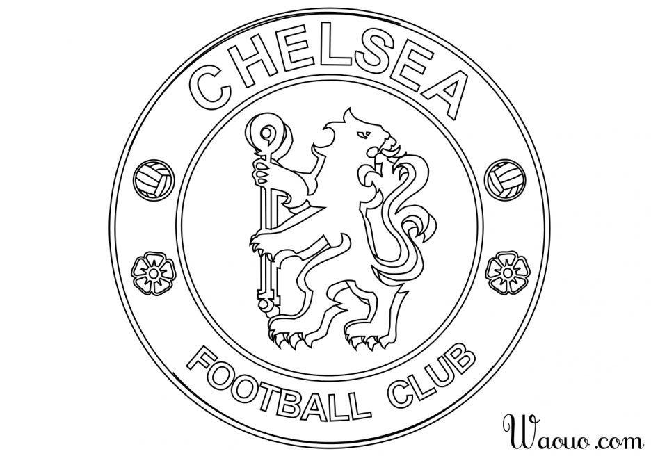Des sports coloriage logo chelsea football imprimer et - Image de foot a imprimer ...