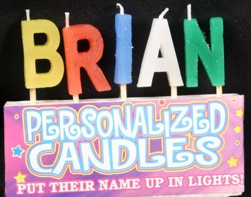 Brian Letter Shaped Birthday Candles Click Image To Read More Details ScentedCandles