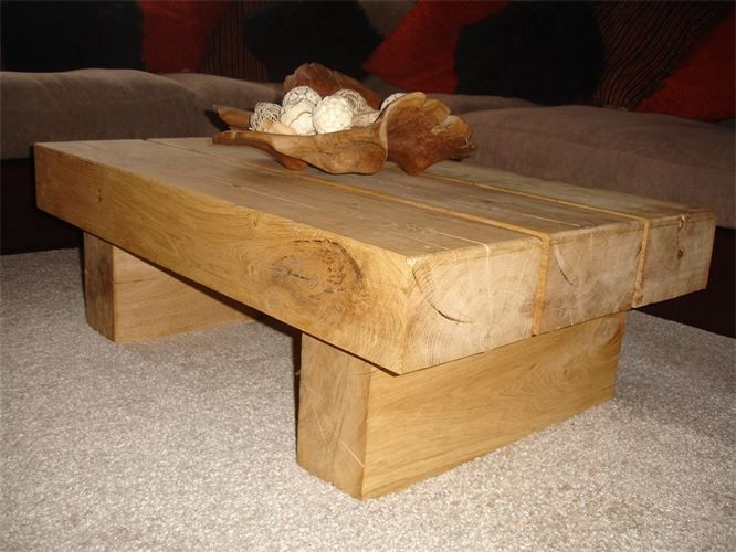 Oak coffee table oak furniture by Woodbeunique Pinterest Oak