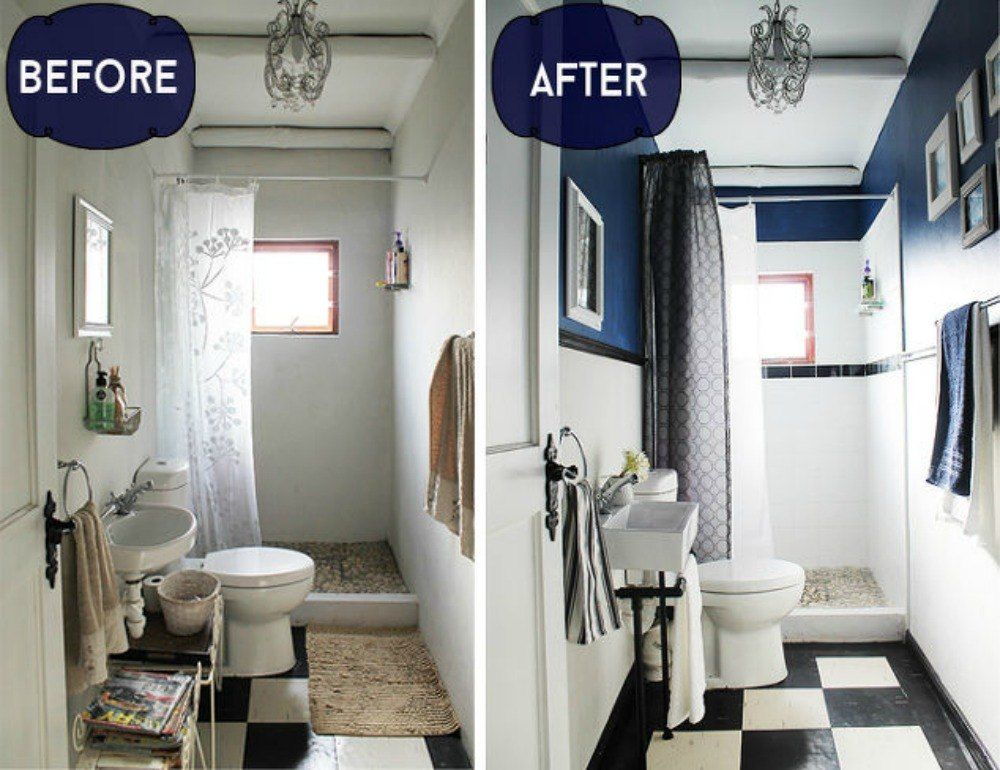 S People Who Made The Most Of Their Tiny Bathroom Add Depth With - Cost effective bathroom remodel