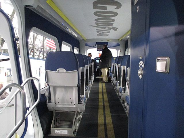 New Goodyear blimp gondola interior.   Technology & Science   Pinterest
