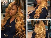 Honey Blonde Sew Ins Google Search In 2019 Natural Hair