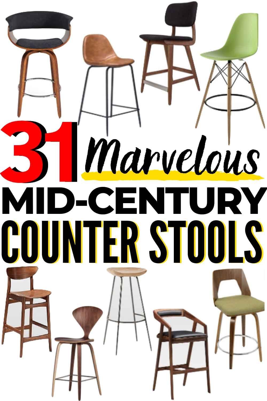 31 Best Mid Century Modern Bar Stools Counter Stools On The Market Mid Century Modern Bar Mid Century Modern Kitchen Island Modern Bar Stools