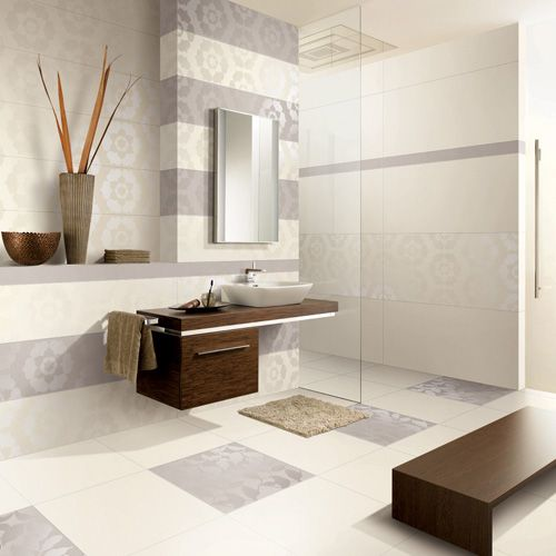 Light Grey Ultra  Thin U0026 Large 1200x600mm Porcelain Wall And Floor Tiles In  A Modern Part 30