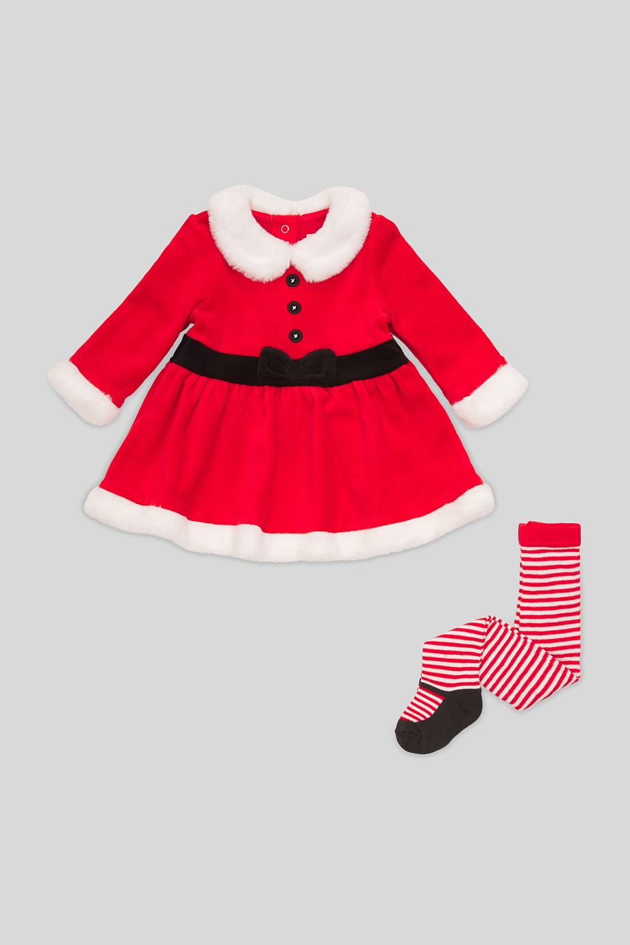 New Le Top Toddler Red Velour Santa Dress Holiday 2T 4T