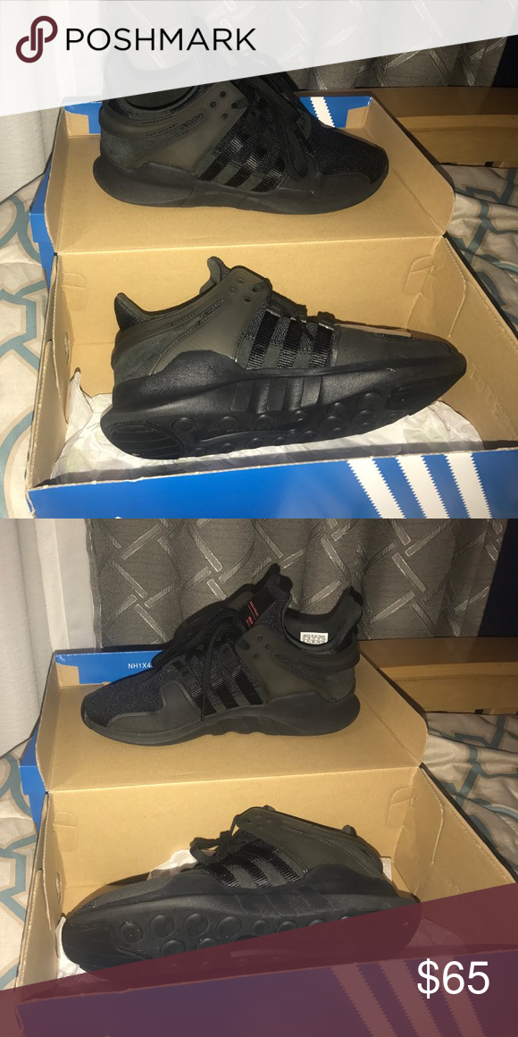 20143f8b20e9 Adidas EQT support adv Size 6 in youth all black brand new only worn 5  times adidas Shoes Sneakers