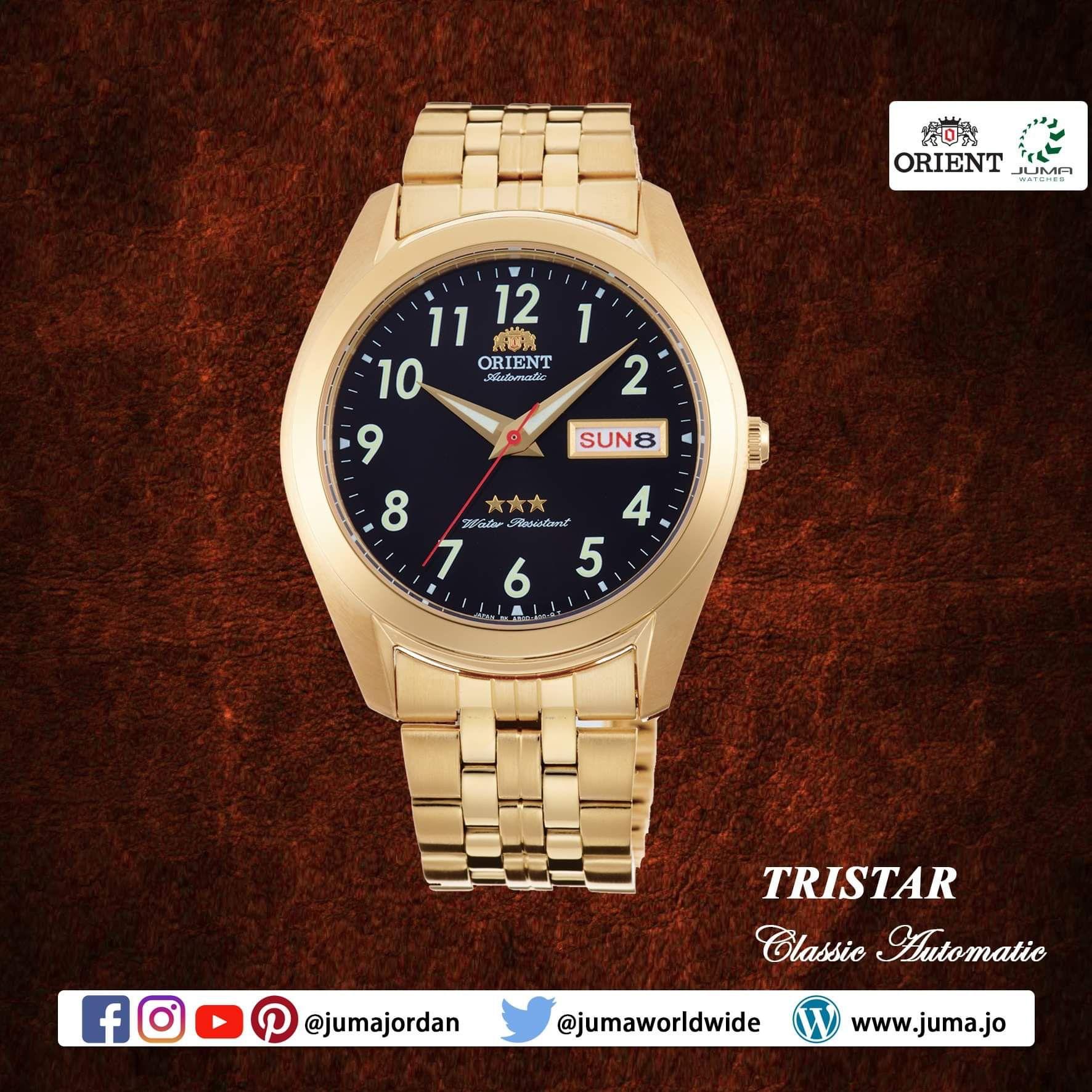 Orient Tristar Mechanical Watch Metal Strap Strap 39 0mm Case Metal Straps Orient Watch Watches For Men