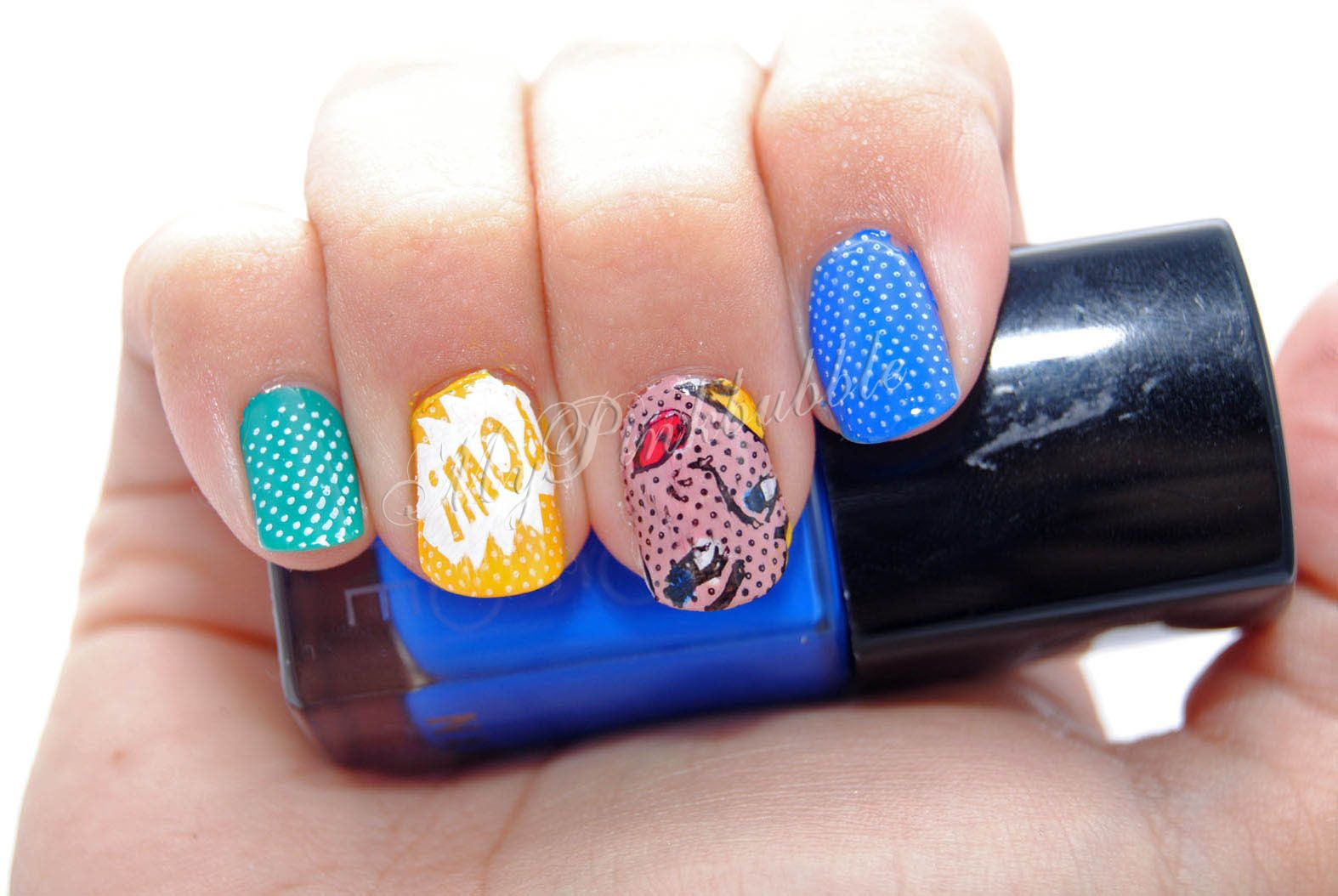 Nails comic Moyou London stamping