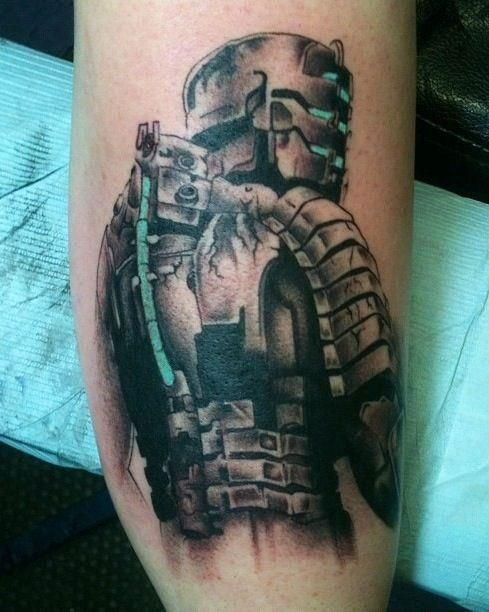 Dead Space Tattoo : space, tattoo, Space, Extraction, Tattoo, #tattoo, #deadspace, #JackKornegay, #gamertattoo, Gamer, Tattoos,, Tattoo,, Gaming