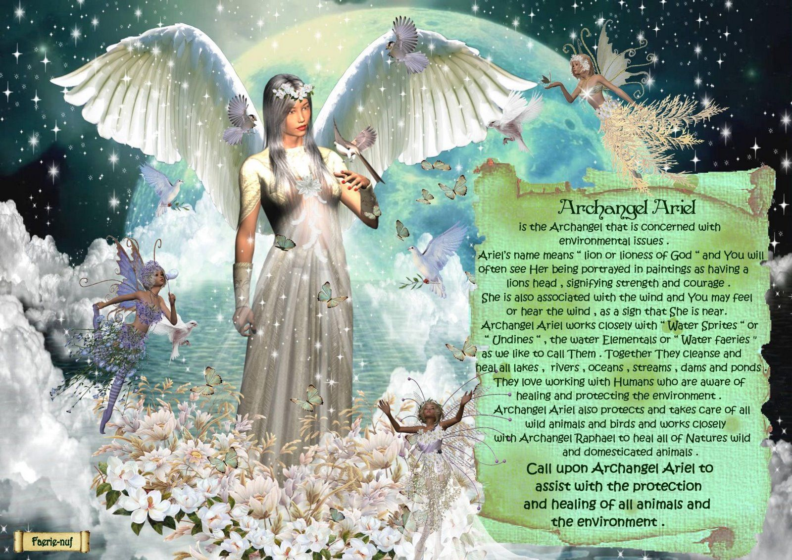 Arch Angel Ariel Archangel Ariel A Picture Is Worth A Thousand